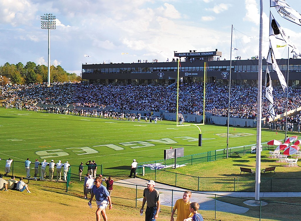 Map Of Georgia Southern.Paulson Stadium Construction Guide And Map Georgia Southern