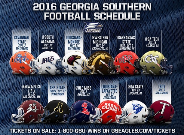 2016 Georgia Southern Football Schedule Set For Summers Debut Season Georgia Southern University Athletics